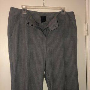 Ann Taylor Factory Signature Grey Suit Pants 12